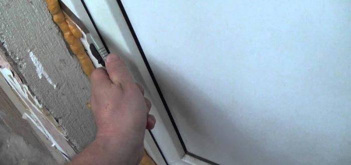 Чем оттереть монтажную пену с двери
