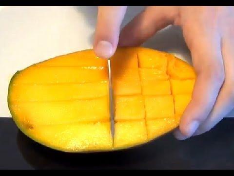 Нарезка мякоти манго