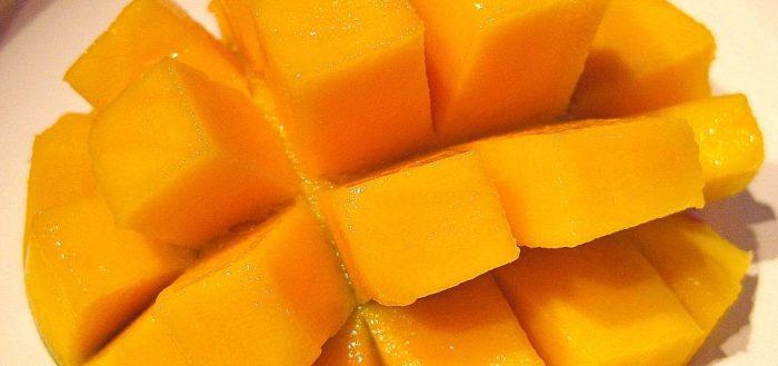 очищенное манго