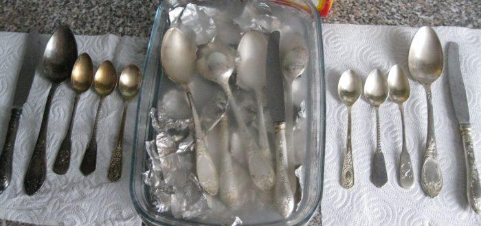 чистка мельхиора