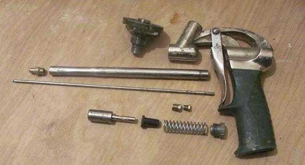 Детали пистолета для монтажной пены