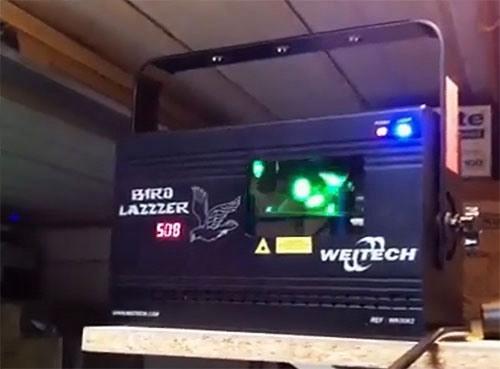Лазерный отпугиватель WK-0062 BIRD LAZZZER
