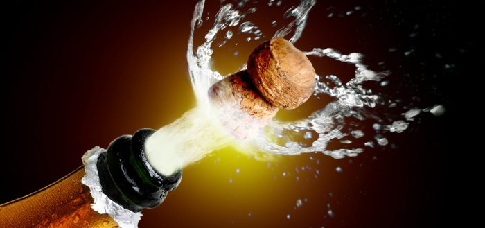 шампанское открывание