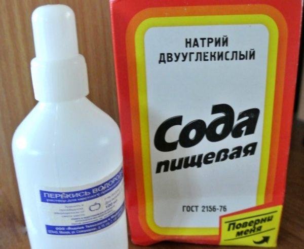 Сода и перекись водорода, чтобы почистить ковер