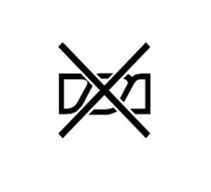 Значок, запрещающий выкручивать бельё