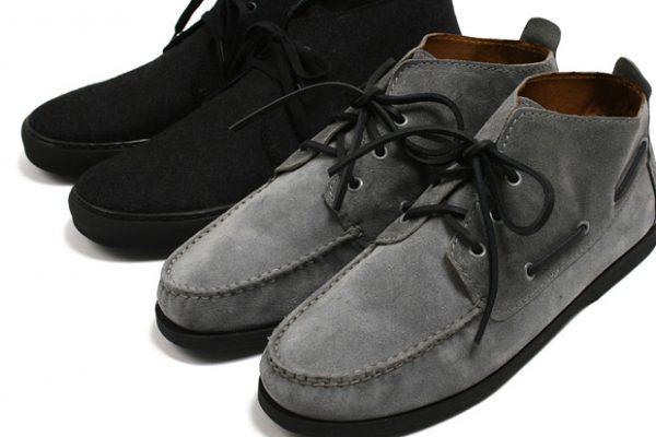 Серые и чёрные мужские ботинки