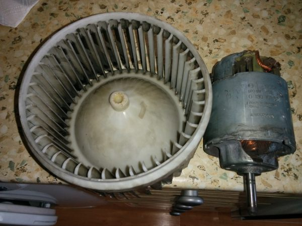 Венилятор и мотор