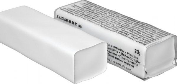 Штучный белый пластилин