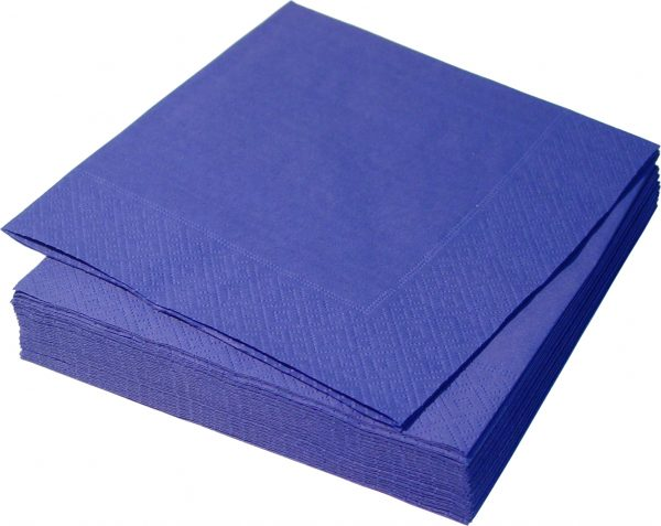 Синие бумажные салфетки