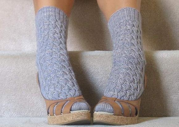 Босоножки на шерстяном носке