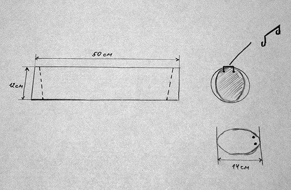 Общая схема строения ловушки из трубы