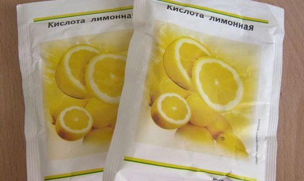 Два пакета лимонной кислоты