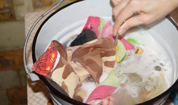 Кипячение цветного белья