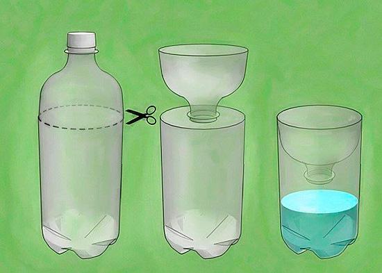 Ловушка для мошек из пластиковой бутылки