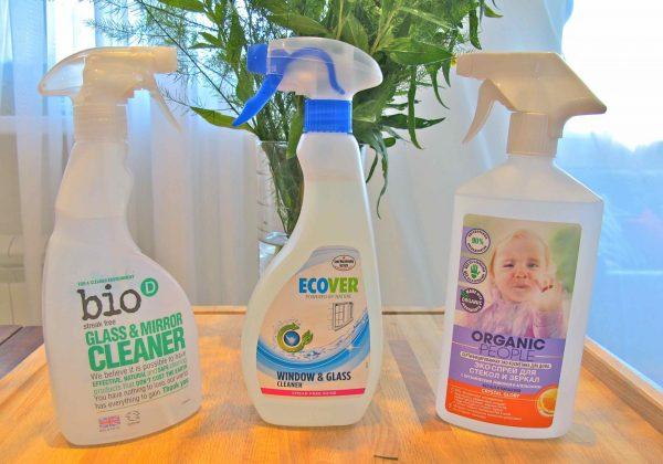 Органические средства для мытья стёкол и зеркал