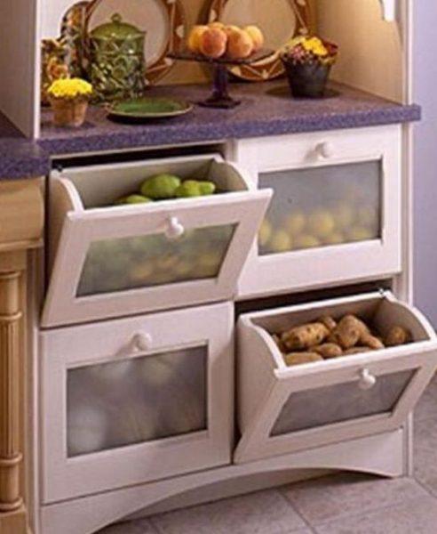 Овощи и фрукты, хранящиеся в квартире