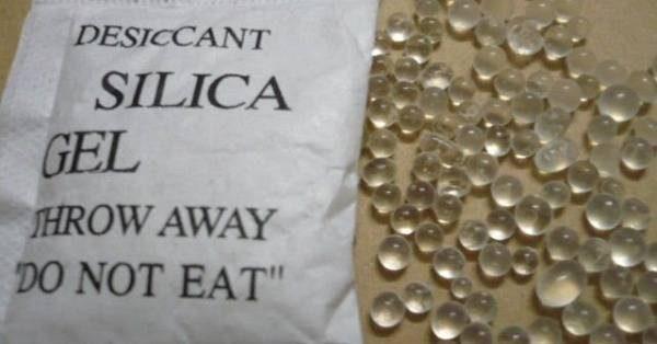 Пакет и гранулы с силикагелем