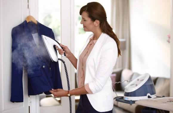 убрать блеск с одежды паром