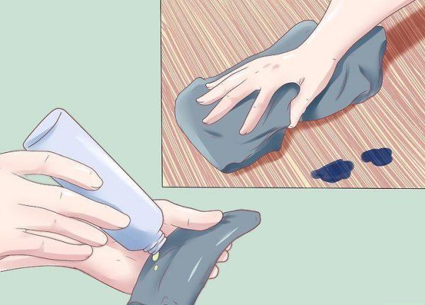 удалить чернильные пятна с пола