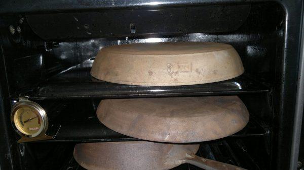 прокаливание чугуна в духовке