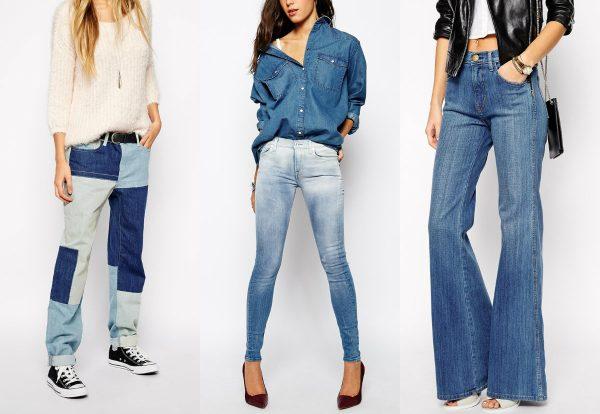 Разные модели джинсов